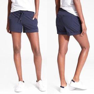 Athleta Midtown Shorts Navy Blue